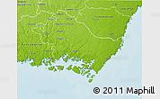 Physical 3D Map of Karlskrona Kommun