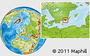 Physical Location Map of Karlskrona Kommun