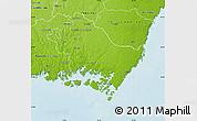 Physical Map of Karlskrona Kommun