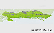 Physical Panoramic Map of Blekinge Län, lighten