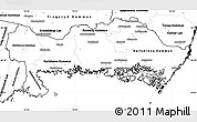 Blank Simple Map of Blekinge Län