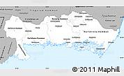 Gray Simple Map of Blekinge Län