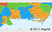 Political Simple Map of Blekinge Län
