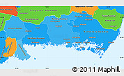 Political Shades Simple Map of Blekinge Län, political outside