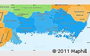 Political Shades Simple Map of Blekinge Län