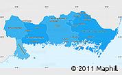 Political Shades Simple Map of Blekinge Län, single color outside