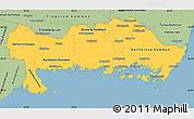 Savanna Style Simple Map of Blekinge Län