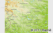 Physical 3D Map of Dalarnes Län
