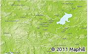 Physical 3D Map of Borlänge Kommun