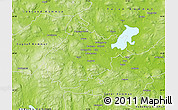 Physical Map of Borlänge Kommun