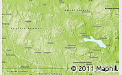 Physical Map of Ludvika Kommun
