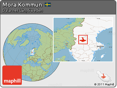 Free Savanna Style Location Map Of Mora Kommun Highlighted Country - Sweden map mora