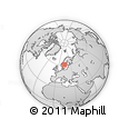 Outline Map of Dalarnes Län