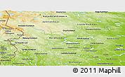 Physical Panoramic Map of Dalarnes Län