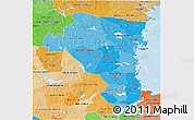 Political Shades 3D Map of Gávleborgs Län