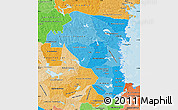 Political Shades Map of Gávleborgs Län