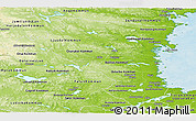 Physical Panoramic Map of Gávleborgs Län