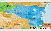 Political Shades Panoramic Map of Gávleborgs Län