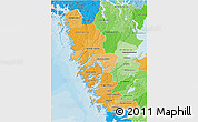 Political Shades 3D Map of Göteborgs och Bohus Län