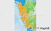 Political Shades Map of Göteborgs och Bohus Län
