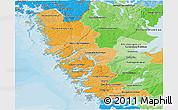 Political Shades Panoramic Map of Göteborgs och Bohus Län