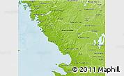Physical 3D Map of Hallands Län