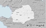 Gray 3D Map of Laholm Kommun