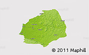Physical 3D Map of Laholm Kommun, cropped outside