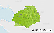 Physical 3D Map of Laholm Kommun, single color outside