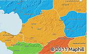 Political 3D Map of Laholm Kommun