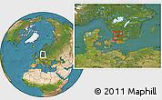 Satellite Location Map of Laholm Kommun