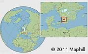 Savanna Style Location Map of Laholm Kommun