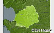 Physical Map of Laholm Kommun, darken