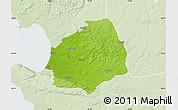 Physical Map of Laholm Kommun, lighten