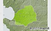 Physical Map of Laholm Kommun, semi-desaturated