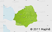 Physical Map of Laholm Kommun, single color outside