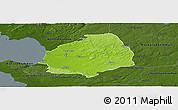 Physical Panoramic Map of Laholm Kommun, darken