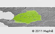 Physical Panoramic Map of Laholm Kommun, desaturated