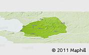 Physical Panoramic Map of Laholm Kommun, lighten