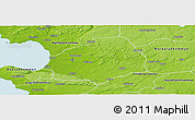 Physical Panoramic Map of Laholm Kommun