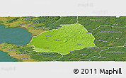 Physical Panoramic Map of Laholm Kommun, satellite outside