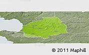 Physical Panoramic Map of Laholm Kommun, semi-desaturated