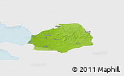 Physical Panoramic Map of Laholm Kommun, single color outside