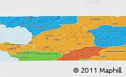 Political Panoramic Map of Laholm Kommun