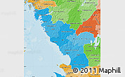Political Shades Map of Hallands Län