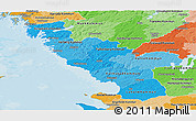 Political Shades Panoramic Map of Hallands Län