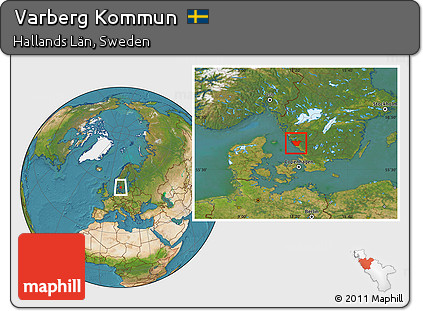Free Satellite Location Map Of Varberg Kommun - Varberg sweden map