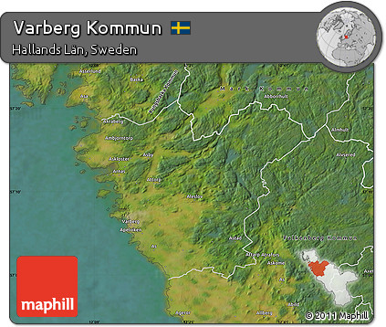 Free Satellite Map Of Varberg Kommun - Varberg sweden map