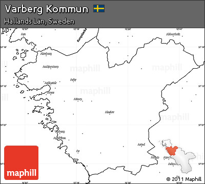 Free Blank Simple Map Of Varberg Kommun - Sweden kommun map