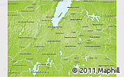 Physical 3D Map of Jönköpings Län